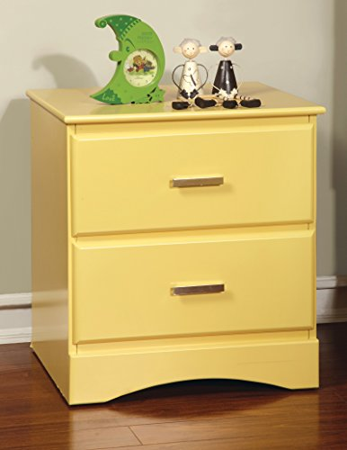 HOMES: Inside + Out Furniture of America Kolora Youth Nightstand, Yellow