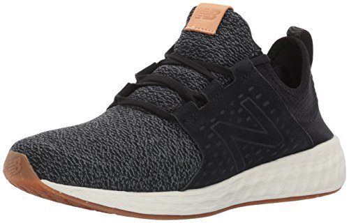 New Balance Men's Fresh-Foam Cruz Running Shoe, Black/Sea Salt, 11 D(M) US