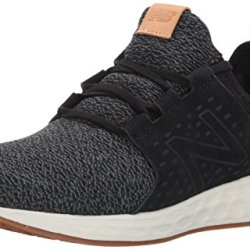 New Balance Men's Fresh-Foam Cruz Running Shoe, Black/Sea Salt, 11 D(M) US