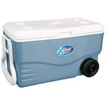 Coleman 100-Qt. Wheeled Cooler / Holds 130 cans/ Two-way handles for easier lifting, and carrying of the Coleman wheeled cooler