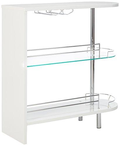Coaster Contemporary Glossy White Bar Table