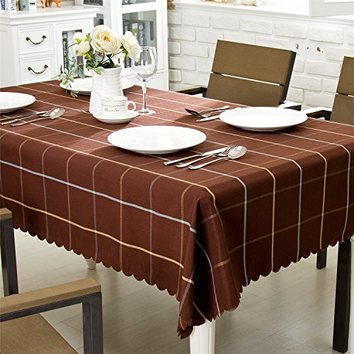 """OstepDecor Premium Waterproof Tablecloth 100% Polyester Decorative Table Top Cover for Kitchen Dining Room End Table Protection - Rectangle/Oblong, 60"""" x 120"""""""