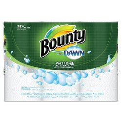 """Bounty Paper Towels with Dawn, 2-Ply, 11"""" x 14"""", 49 Per Roll, 3 Pack"""
