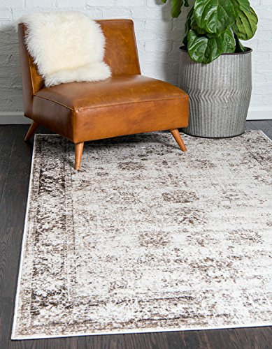 Unique Loom Monaco Collection Traditional Vintage Beige Home Décor Area Rug (4' x 6')