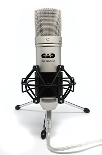 CAD USB Microphone for Recording Podcast and Gaming with Shock Mount