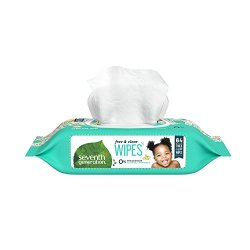 Seventh Generation Baby Wipes, Free & Clear with Flip Top Dispenser, 64 count