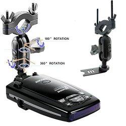 AccessoryBasics Car Rearview Mirror Radar Detector Mount for Escort PASSPORT 9500ix 9500i Passport 8500 X50 7500 6800 C65 SOLO S2 SOLO S3 SOLO RD-5110 SC 55 Beltronics RX65 Red VECTOR 995 955 Radar