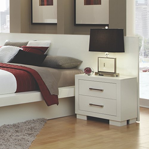 Coaster Home Furnishings Contemporary Nightstand, White