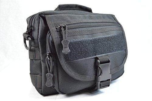 Black Tool Bag Perfect for Paracord Hiking and Camping