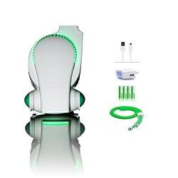 Cool on the Go Rechargeable Stroller Fan by Bladeless Battery Operated Fan, Personal Fan, Portable Fan, USB Desk Fan | Keep Cool Everywhere