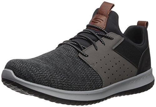 Skechers Men's Classic Fit-Delson-Camden Sneaker,Black/Grey,10 M US