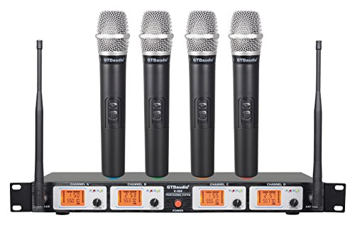 GTD Audio Wireless Microphone System with 4 Hand held mics