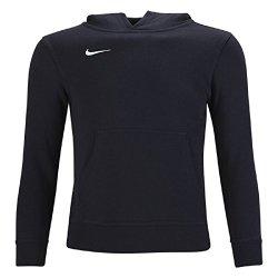 Nike Men's Club Fleece Hoodie (Large, Black/White)