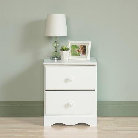 Sauder Storybook 2-Drawer Night Stand, Soft White Finish