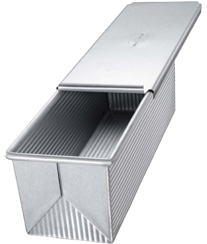 USA Pan Bakeware Pullman Loaf Pan With Cover, 9 x 4 inch, Nonstick & Quick Release Coating, Made in the USA from Aluminized Steel