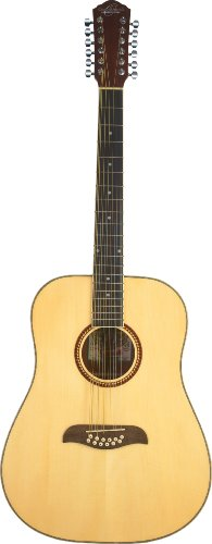 Oscar Schmidt OD312 Natural 12-String Dreadnought Guitar- Natural featuring Handcrafted quality.Rosewood fingerboard & bridge.Fully adjustable truss rod and Chrome die cast tuners