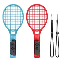 CHOETECH Tennis Racket with Hand Straps for Mario Tennis Aces Game