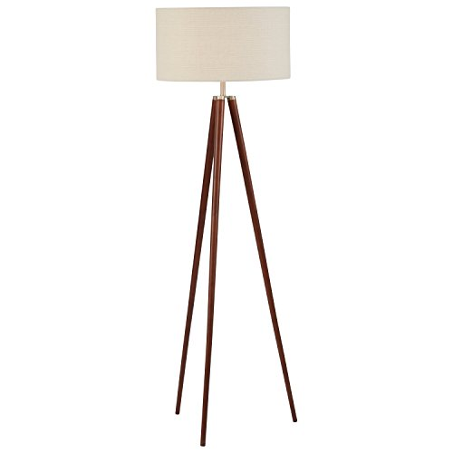 "Stone & Beam Modern Tripod Floor Lamp, with Bulb, Ivory Shade, 19.0"" x 19.0"" x 61.0"", Ivory"