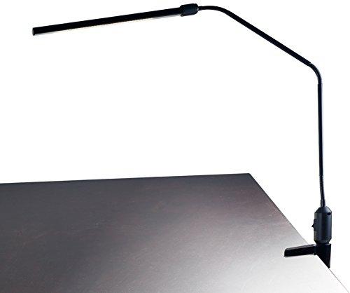 "Lavish Home Contemporary Clamp LED Desk Lamp, Black (41"")"