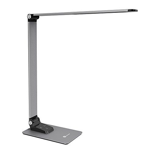 TaoTronics LED Desk Lamp with High-speed 5V/2A USB Charging Port, 3 Color Temperatures and 3 Brightness Levels, Metal Body, Memory Function, 9W