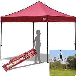 ABCCANOPY 30+colors Pop Up Canopy 10 X 10-feet Commercial Instant Canopy Kit Ez Pop up Tent,Bonus Carrying Bag,Burgundy