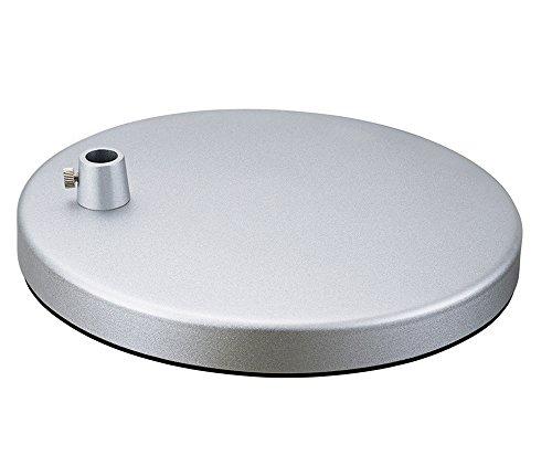 "Phive Heavy Desk Lamp Base for Architect Swing Arm LED Desk Lamp, 7.8"" Round (Silver)"