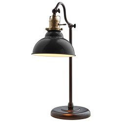 "Stone & Beam Walters Vintage Task Lamp with Bulb, 19.9"" H, Black"