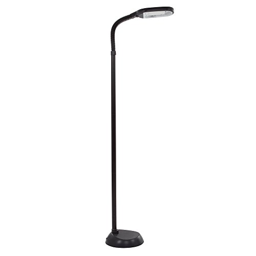 Lavish Home 5 Feet Sunlight Floor Lamp With Adjustable Gooseneck - Black