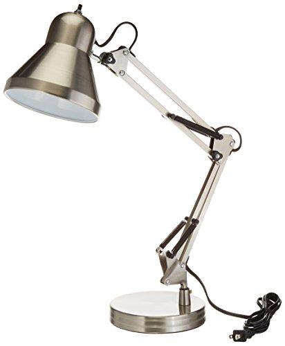 Boston Harbor Swing Arm Lamp Holder for Desk Lamp, Brushed Nickel