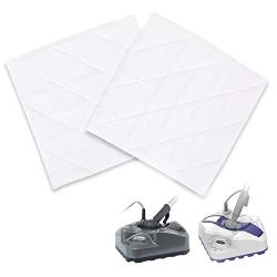 Light n Easy Mop Pads Replacement 2 Sets of Microfiber Cleaning Pads Washable Microfiber Mop Pads with 3 Layers, Steam Pocket Mop Pads for Most Hard Flooring