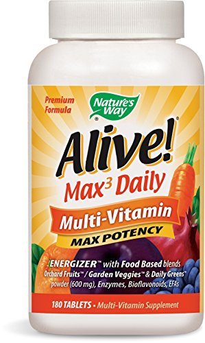 Nature's Way Alive! Max3 Daily Adult Multivitamin, Food-Based Blends