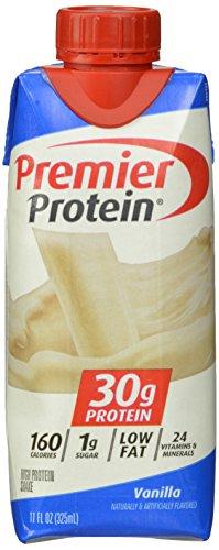 Premier Nutrition High Protein Shake, Vanilla, 11 oz,18 Count