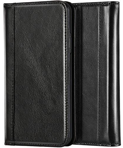 ProCase Genuine Leather Case for iPhone XS Max, Vintage Wallet Folding Flip Case