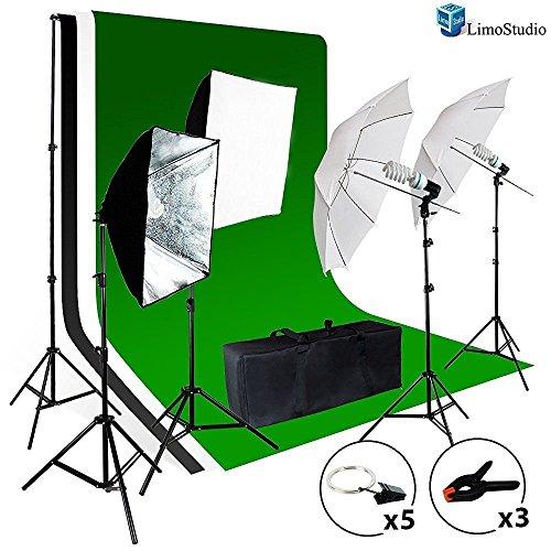 5500K Umbrella Softbox Lighting Kit for Photo Studio