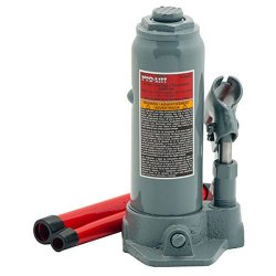 Pro-Lift Grey Hydraulic Bottle Jack - 4 Ton Capacity