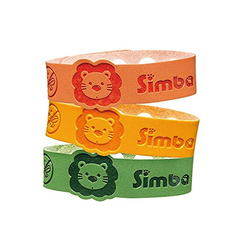 Simba Baby/Kids Natural Mosquito Repellent Bracelet-Natural Citronella and Lemon Extract/ No DEET (3 Pcs)