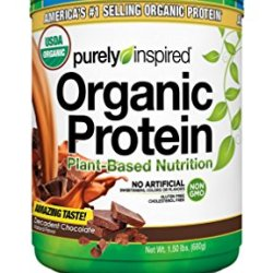 Purely Inspired Organic Protein Powder, 100% Plant Based with Pea & Brown Rice Protein, Vegan Protein, Decadent Chocolate, 1.5lbs