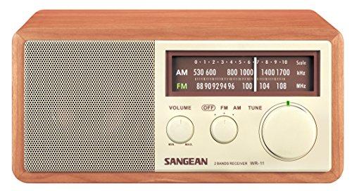 Sangean Wood Cabinet AM/FM Table Top Analog Radio