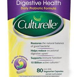 Culturelle Digestive Health Probiotic - 2 Boxes, 80 Capsules Each