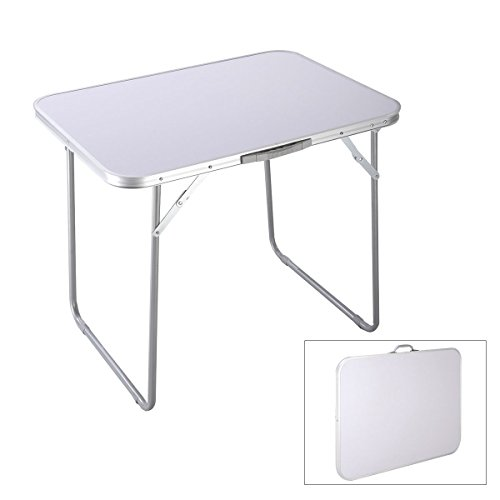 Goplus Portable Camping Table 4-Person Folding Aluminum Picnic Party Dining Desk In/Outdoor