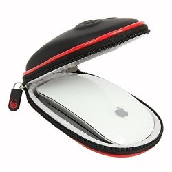 Hermitshell Hard EVA Storage Carrying Case Bag for Apple Magic Mouse (I and II 2nd Gen) and carabiner (Black)