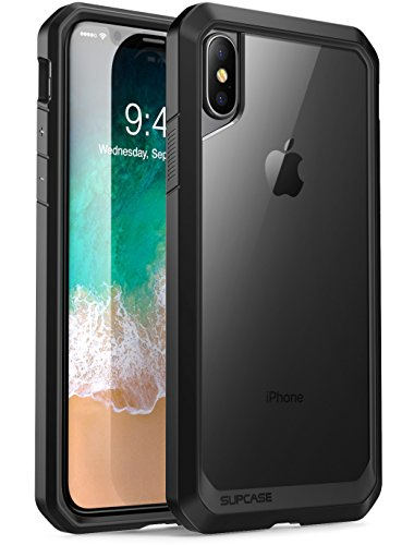 SUPCASE iPhone X, iPhone XS Case, Unicorn Beetle Series Premium Hybrid Protective Frost Clear Case for Apple iPhone X 2017,iPhone XS 2018 (Clear/Black)