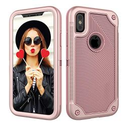 Case for iPhone XS,iPhone X,Digital Hutty 3 in 1 Shockproof