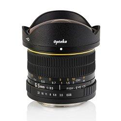 Opteka 6.5mm f/3.5 HD Aspherical Fisheye Lens & Removable Hood for Canon Digital SLR Cameras