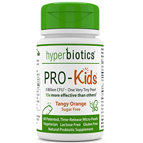 PRO-Kids: Children's Probiotics - 60 Tiny, Sugar Free, Once Daily, Time Release Pearls - 15x More Survivability than Capsules - Recommended with Vitamins - for Kids Ages 3 and Up - Easy to Swallow