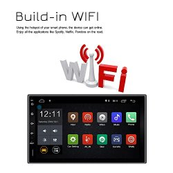 Lexxson Android 7.1 FM/AM Car Radio Stereo 2Din 7 inch Capacitive Touch Screen GPS Navigation Wireless USB SD Mirro Link Player 1G DDR3 + 16G NAND Memory Flash