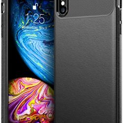 Caseology for iPhone XS Max Case [Vault Series] - Slim Fit Tough Enhanced Drop Protection Textured Grip Design Case for iPhone XS Max 6.5 (2018) - Black