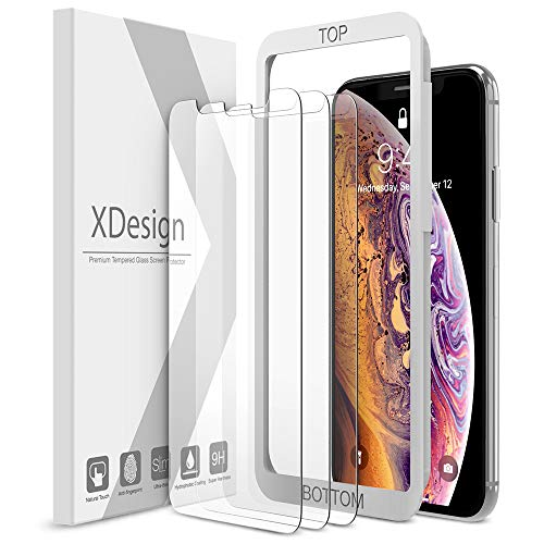 XDesign Glass Screen Protector Designed for iPhone X & iPhone XS