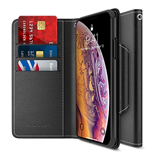 Maxboost Wallet Case Designed for Apple iPhone XS MAX 2018 Phone