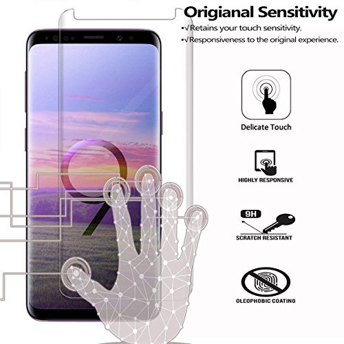 [2 Pack] Galaxy S9 Plus Screen Protector, Fanouc [Anti-Scratch] [High  Definition] [Bubble Free] [Anti-Fingerprint] Tempered Glass Screen  Protector